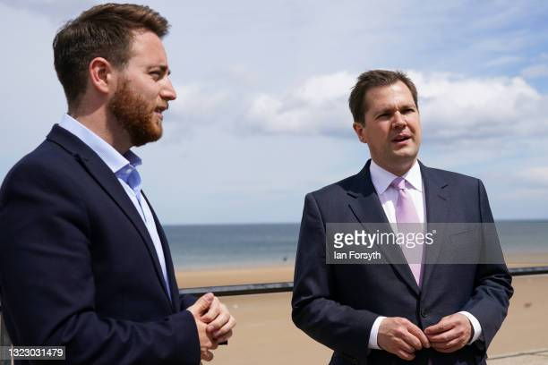 Robert Jenrick MP , Secretary of State for Housing, Communities and Local Government and JacobYoung MP, Member of Parliament for Redcar visit Redcar...