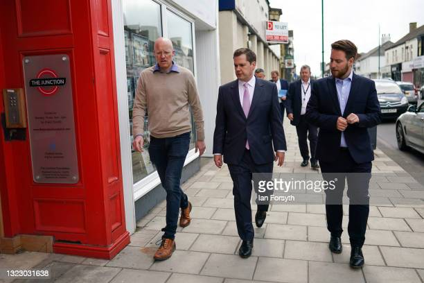 Robert Jenrick MP , Secretary of State for Housing, Communities and Local Government visits Redcar on June 11, 2021 in Redcar, England. The visit...