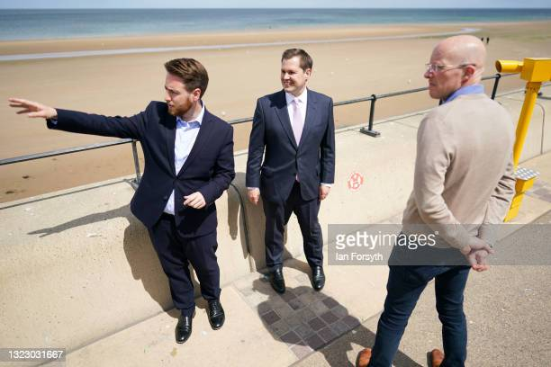 Robert Jenrick MP , Secretary of State for Housing, Communities and Local Government visits Redcar with JacobYoung MP , Member of Parliament for...