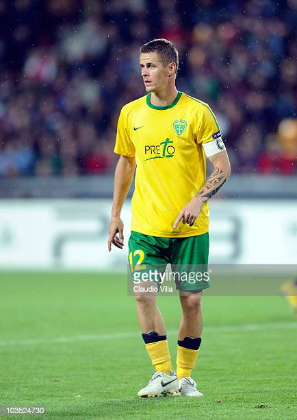 Robert Jez of MSK Zilina during the Champions League Playoff match between Sparta Prague and Zilina at Generali Arena on August 17 2010 in Prague...