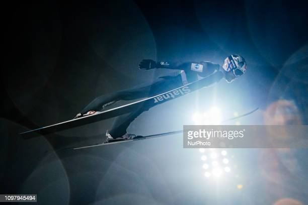 Robert Johansson competes in the FIS Ski Jumping World Cup Large Hill Individual Competition at the Lahti Ski Games in Lahti, Finland on 10 February...