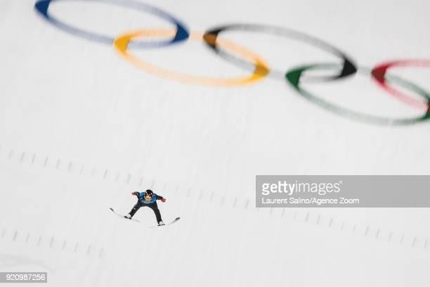 Robert Johansson of Norway competes during the Ski Jumping Men's Team at Alpensia Ski Jumping Center on February 19 2018 in Pyeongchanggun South Korea