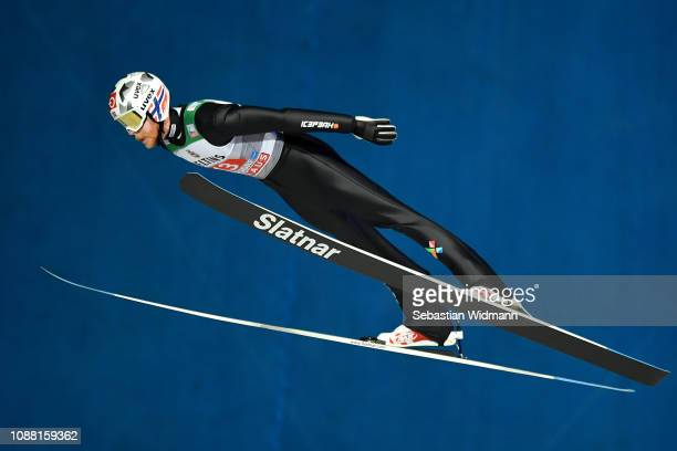 Robert Johansson of Norway competes on day 2 of the 67th FIS Nordic World Cup Four Hills Tournament ski jumping event on December 30 2018 in...