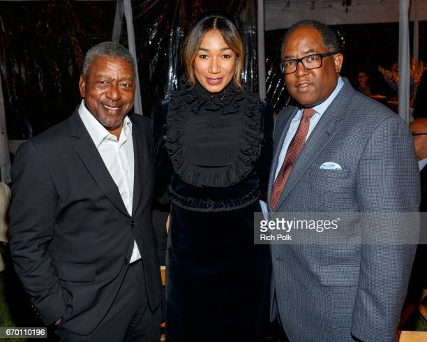 Robert Johnson Lauren Wooden Johnson and Honoree Los Angeles County Board of Supervisors Mark RidleyThomas attend the Communities In School LA Gala...