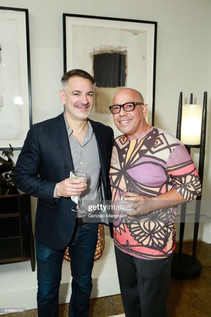 Robert Kaner and Antonio da Motta Leal attend the Atlantica Collection by Antonio da Motta Leal for Alexander Lamont on September 13, 2017 in New York City.