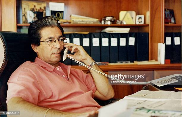 Robert Kardashian in his office during the trial of OJ Simpson
