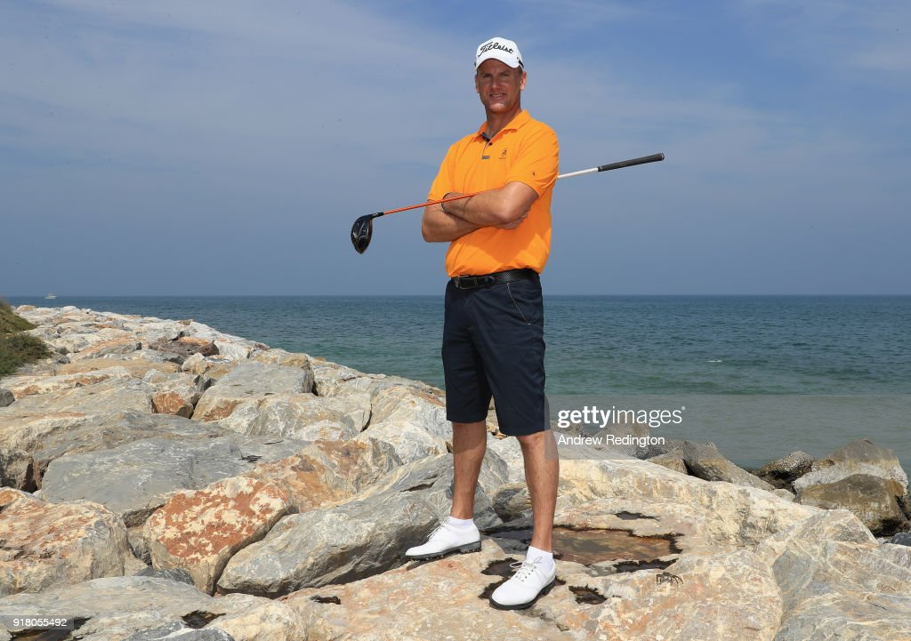 Robert Karlsson of Sweden poses for a portrait during the pro-am event prior to the NBO Oman Golf Classic on February 14, 2018 in Muscat, Oman.