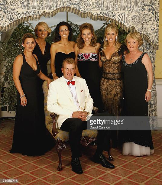 Robert Karlsson poses with Laurae Westwood Morgan Norman Diane Antonopoulos Alison McGinley Caroline Harrington and Glendryth Woosnam for a...