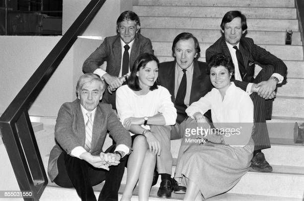 Robert Kee Michael Parkinson Anna Ford David Frost Angela Rippon and Peter Jay at the TVam studios 21st February 1983