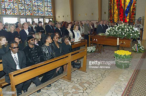 Robert Kelly Lisa Simone and Crystal Fox during Nina Simone's Funeral In France April 25 2003 at Carry Le Rouet in Carry Le Rouet France