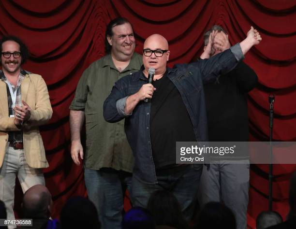 Robert Kelly takes part in SiriusXM host Ron Bennington's annual Thanksgiving Special at Hard Rock Cafe Times Square on November 14 2017 in New York...