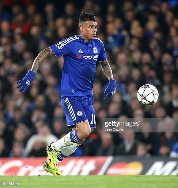 Robert Kenedy Nunes do Nascimento aka Kenedy of Chelsea in action during during the UEFA Champions League round of 16 second leg match between...