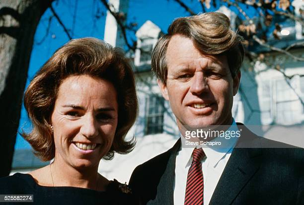 Robert Kennedy and Wife Ethel at Hickory Hill McLean Virginia June 4 1967