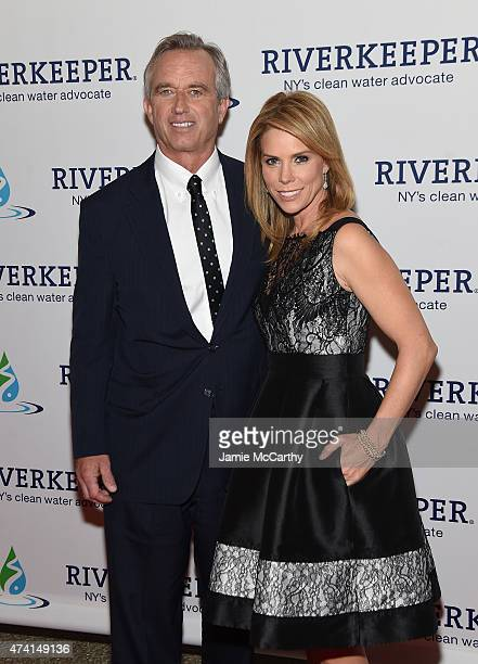 Robert Kennedy Jr and Cheryl Hines attend the 2015 Riverkeeper Fishermen's Ball at Pier Sixty at Chelsea Piers on May 20 2015 in New York City