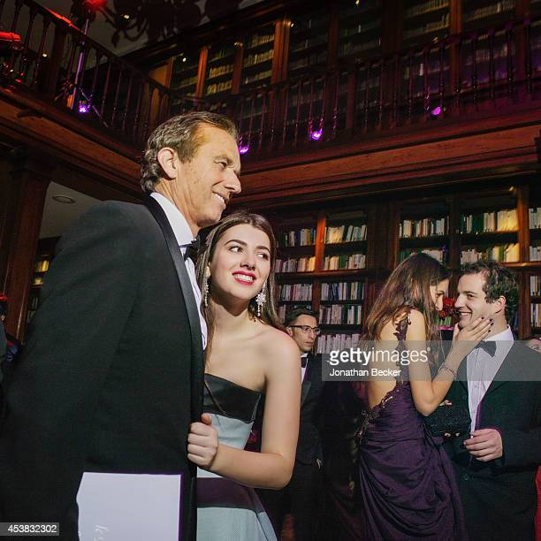 Robert Kennedy Jr and daughter Kyra Kennedy are photographed for Vanity Fair Magazine on November 29, 2013 at the Automobile Club de France in Paris,...