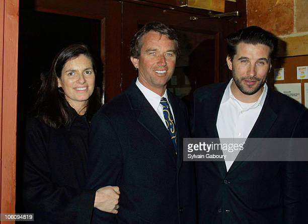Robert Kennedy Jr and his wife with William Baldwin