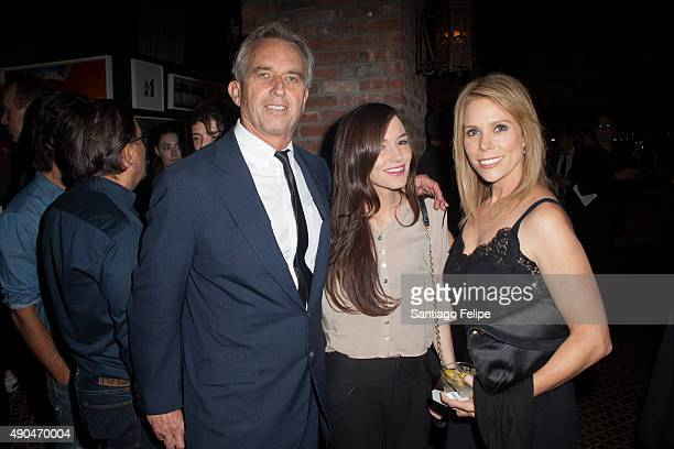 Robert Kennedy Jr Kathleen Alexandra Kennedy and Cheryl Hines attend the 3rd Annual Turtle Ball at The Bowery Hotel on September 28 2015 in New York...