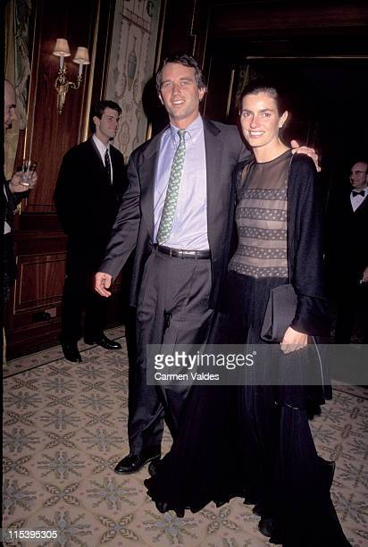 Robert Kennedy Junior and Mary Richardson during Creative Coalition Awards Honor Kenneth Cole and Whoopi Goldberg at Pierre Hotel in New York City...