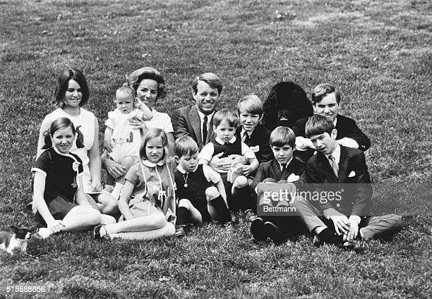 Robert Kennedy with his wife and their ten children Ca 1965 Filed 4/30/1982