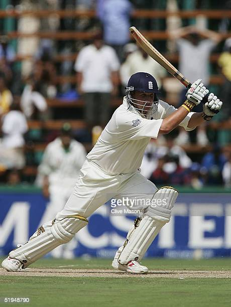 Robert Key of England in action on his way to a half century during the first day of the fourth test match between South Africa and England at the...