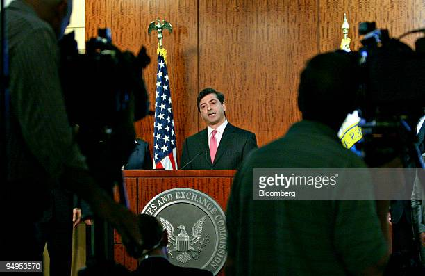 Robert Khuzami director of enforcement at the US Securities and Exchange Commission speaks during a news conference in Washington DC US on Thursday...