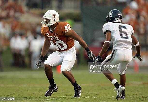 Robert Killebrew of the Texas Longhorns moves on the field during the game against the Rice Owls on September 22 2007 at Darrell K RoyalTexas...