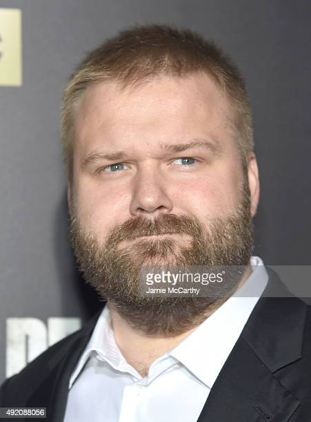 Robert Kirkman attends AMC's 'The Walking Dead' Season 6 Fan Premiere Event 2015 at Madison Square Garden on October 9 2015 in New York City