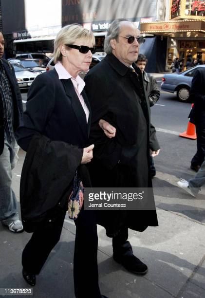 Robert Klein arrives at the Memorial for Dana Reeve at the New Amsterdam Theatre on March 10, 2006 in New York City. Dana Reeve, wife of the late...