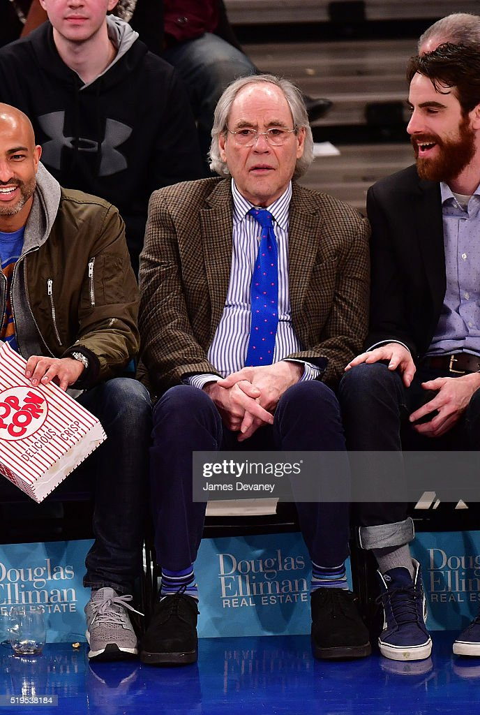 Robert Klein attends the Charlotte Bobcats vs New York Knicks game at Madison Square Garden on April 6, 2016 in New York City.