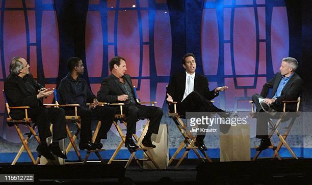 Robert Klein, Chris Rock, Garry Shandling, Jerry Seinfeld and Anderson Cooper