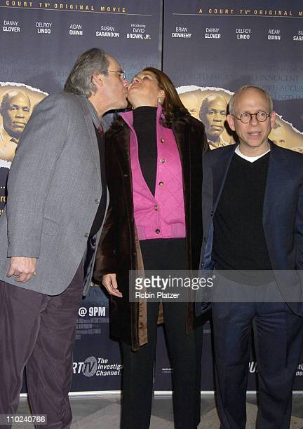 """Robert Klein, Lorraine Bracco and Bob Balaban during Court TV's Original Movie """"The Exonerated"""" New York City Premiere at Museum of Television and..."""
