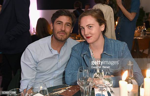 Robert Konjic and Caroline Gaimari attend a private dinner hosted by Mih Jeans to celebrate their 10th anniversary at Brewer Street Car Park on May 5...