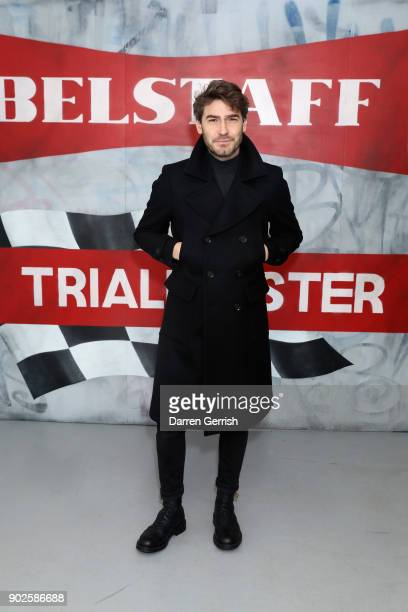 Robert Konjic attends the Belstaff AW18 Mens Womens Presentation during London Fashion Week Men's January 2018 on January 8 2018 in London England