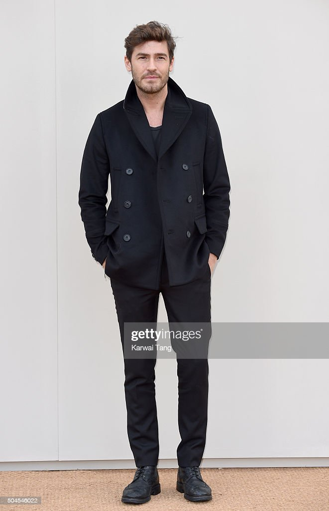 Robert Konjic attends the Burberry show during The London Collections Men AW16 at Kensington Gardens on January 11, 2016 in London, England.