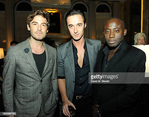 Robert Konjic Daniele Cavalli Edward Enninful attends The London Edition opening celebrating the September issue of W Magazine at The London Edition...