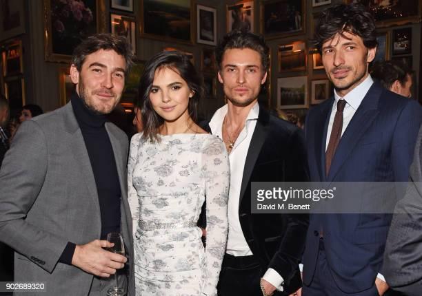 Robert Konjic Doina Ciobanu Harvey NewtonHaydon and Andres Velencoso attend the GQ London Fashion Week Men's 2018 closing dinner hosted by Dylan...