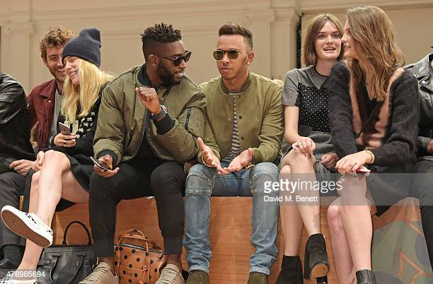 Robert Konjic Dree Hemingway Tinie Tempah Lewis Hamilton Sam Rollinson and Charlotte Wiggins attend the COACH Men's Spring 2016 Presentation at The...