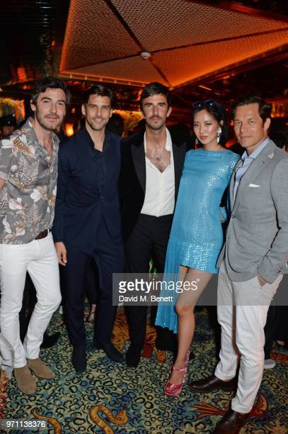 Robert Konjic Johannes Huebl Teo van den Broeke Betty Bachz and Paul Sculfor attend the GQ Style and Browns LFWM Party at Annabels on June 10 2018 in...