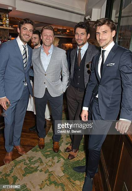 Robert Konjic Sean Bean David Gandy and Johannes Huebl attends the Tommy Hilfiger dinner celebrating London Collections Men SS16 at The Ivy on June...