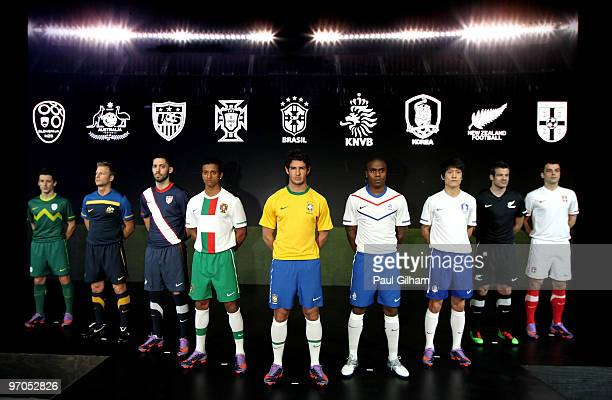 Robert Koren of Solvenia Vince Grella of Australia Clint Dempsey of USA Nani of Portugal Alexandre Pato of Brazil Edson Bradfeeld of Netherlands Cy...