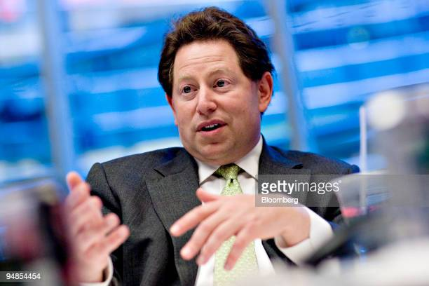 Robert Kotick president and chief executive officer of Activision Blizzard Inc speaks during an interview in New York US on Monday Nov 10 2008...