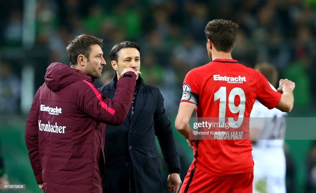Borussia Moenchengladbach v Eintracht Frankfurt - DFB Cup Semi Final : News Photo
