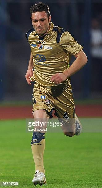 Robert Kovac of Dinamo Zagreb in action during the Prva HNL match between HNK Cibalia and NK Dinamo Zagreb at Stadion HNK Cibalia on April 24 2010 in...