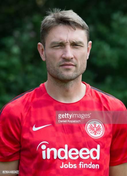 Robert Kovac of Eintracht Frankfurt poses during the team presentation at on August 4 2017 in Frankfurt am Main Germany