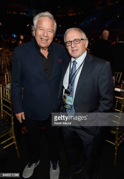 Robert Kraft and Irving Azoff attend the 33rd Annual Rock Roll Hall of Fame Induction Ceremony at Public Auditorium on April 14 2018 in Cleveland Ohio
