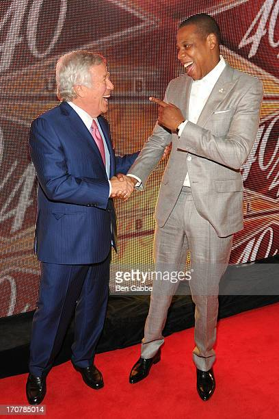 Robert Kraft and JayZ attend The 40/40 Club 10 Year Anniversary Party at 40 / 40 Club on June 17 2013 in New York City
