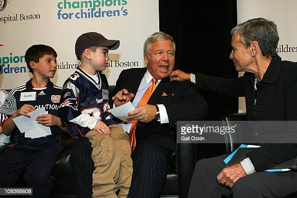Robert Kraft and Myra Kraft attend Children's Hospital Boston Champions For Children's at World Trade Center on November 30 2010 in Boston...