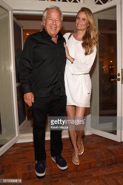 Robert Kraft and Ricki Noel Lander attend Apollo in the Hamptons 2018 Hosted by Ronald O Perelman at The Creeks on August 11 2018 in East Hampton New...