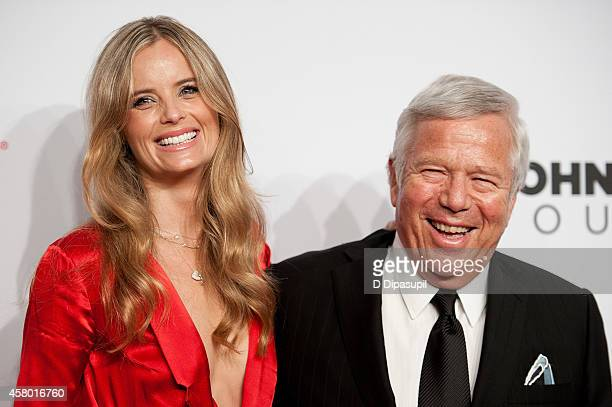 Robert Kraft and Ricki Noel Lander attend the Elton John AIDS Foundation's 13th Annual An Enduring Vision Benefit at Cipriani Wall Street on October...