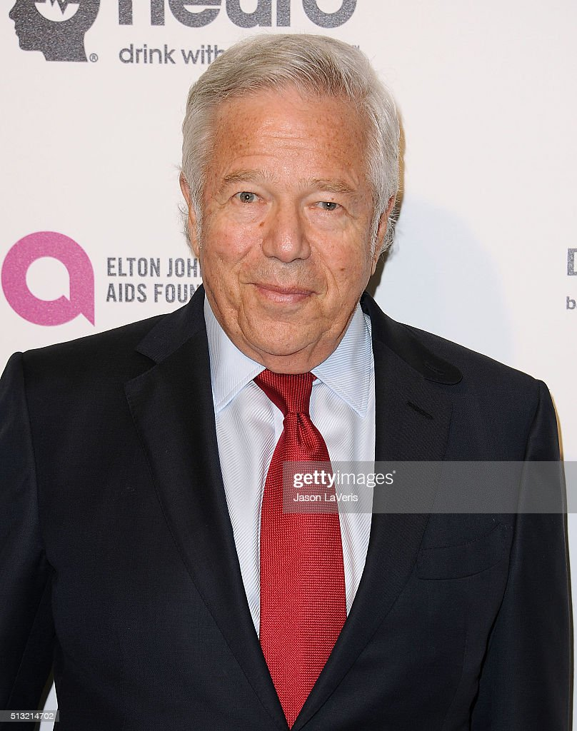 Robert Kraft attends the 24th annual Elton John AIDS Foundation's Oscar viewing party on February 28, 2016 in West Hollywood, California.